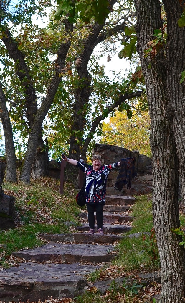 Oonah Joslin on a visit to Pipestone National Monument in southwestern Minnesota.