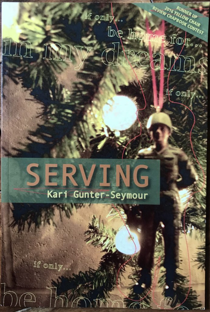 Poetry Book Cover for Serving by Kari Gunter-Seymour